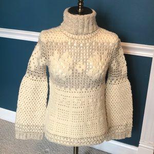 Express chunky wool blend turtleneck sweater